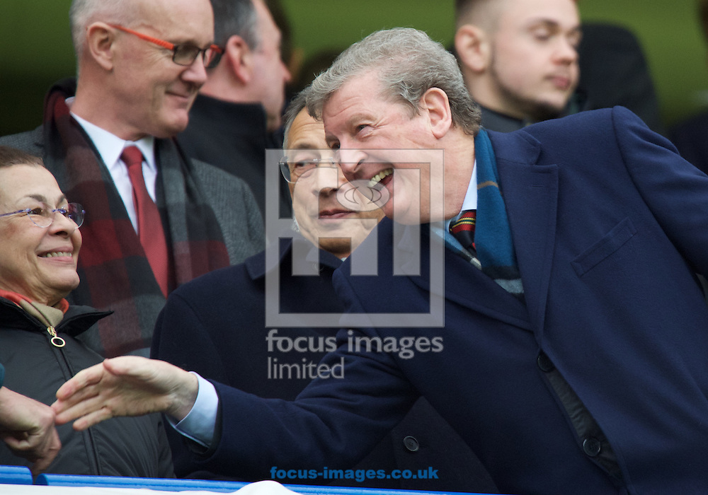 England Manager Roy Hodgson during the Barclays Premier League match at Stamford Bridge, London<br /> Picture by Alan Stanford/Focus Images Ltd +44 7915 056117<br /> 07/02/2016