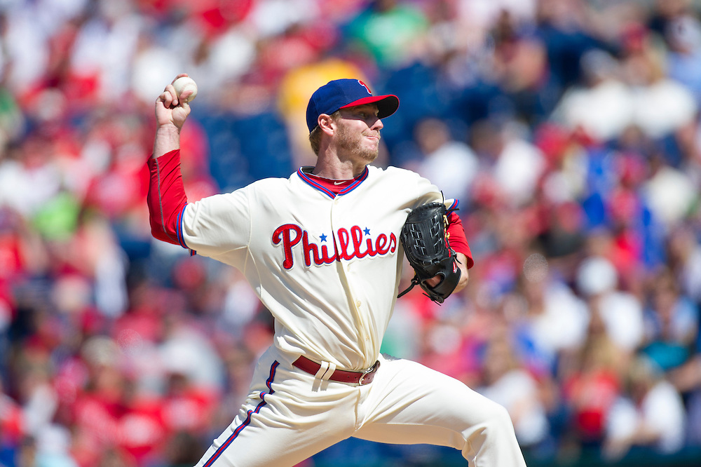 PHILADELPHIA, PA - MAY 05: Roy Halladay #34 of the Philadelphia Phillies pitches during the game against the Miami Marlins at Citizens Bank Park on May 5, 2013 in Philadelphia, Pennsylvania. (Photo by Rob Tringali) *** Local Caption *** Roy Halladay
