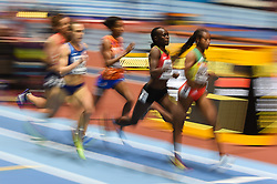March 2, 2018 - Birmingham, England, United Kingdom - Winny Chebet of Kenya at 1500 meter semi final at World indoor Athletics Championship 2018, Birmingham, England on March 2, 2018. (Credit Image: © Ulrik Pedersen/NurPhoto via ZUMA Press)