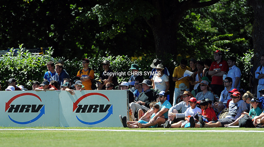 Fans enjoy the day during the HRV Cup Twenty20 match. Canterbury Wizards v Wellington Firebirds, Hagley Park Oval, Christchurch. Sunday 15 January 2012. Credit Chris Symes/www.photosport.co.nz