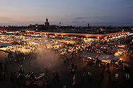 Morocco, Marrakesh. Night at Djemaa el Fna.