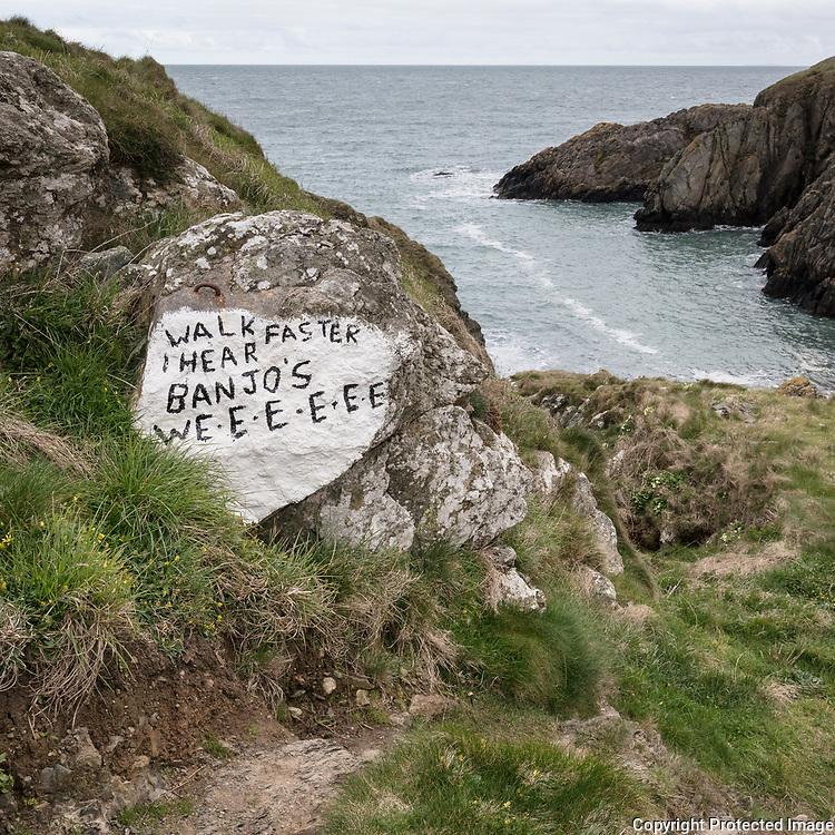 Walk faster I hear banjos, Porth Ty-mawr, Llŷn Peninsula, Gwynedd.