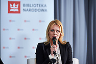 "Warsaw, Poland - 2017 April 07: Anna Wegrzyn - founder of the portal ""Changes in life"", coach ICC speaks while The Day of Health - science conference in the National Library on April 07, 2017 in Warsaw, Poland.<br /> <br /> Mandatory credit:<br /> Photo by © © Adam Nurkiewicz / Mediasport / Mediasport<br /> <br /> Picture also available in RAW (NEF) or TIFF format on special request.<br /> <br /> Any editorial, commercial or promotional use requires written permission from the author of image.<br /> <br /> Adam Nurkiewicz declares that he has no rights to the image of people at the photographs of his authorship."