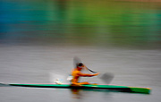 Shaun Rubenstein from South Africa competes during the men's Kayak single (K1) 1000m semi-final at the Olympic games in Beijing, China, 20 August 2008.