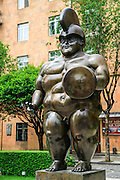 Armenia, Yerevan, Cafesjian Museum of Art and the Cascade. Fernando Botero, Colombia, Roman Warrior, 1986, bronze,
