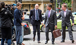 © Licensed to London News Pictures. 03/07/2017. London, UK. ROGER JENKINS arrives at Westminster Magistrates Court in London where he is charged with conspiracy to commit fraud. Barclays executives John Varley, Roger Jenkins, Thomas Kalaris and Richard Boath were charged by the Serious Fraud Office following events that took place at the height of the financial crisis, when Barclays avoided a taxpayer bailout by raising £11. 8bn in emergency funds from a number of major investors, including Qatar. Photo credit: Ben Cawthra/LNP