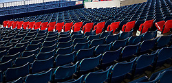 WEST BROMWICH, ENGLAND - Sunday, May 15, 2016: Red seats with the names of each of the 96 victims of the Hillsborough disaster on left empty as West Bromwich Albion pay tribute to the 96 during the final Premier League match of the season against Liverpool at the Hawthorns. (Pic by David Rawcliffe/Propaganda)