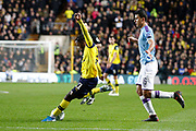 Tariqe Fosu (11) of Oxford United shoots at goal during the EFL Cup match between Oxford United and Manchester City at the Kassam Stadium, Oxford, England on 18 December 2019.