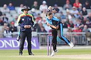 Worcestershire's Ross Whiteley  during the Royal London 1 Day Cup match between Lancashire County Cricket Club and Worcestershire County Cricket Club at the Emirates, Old Trafford, Manchester, United Kingdom on 17 April 2019.