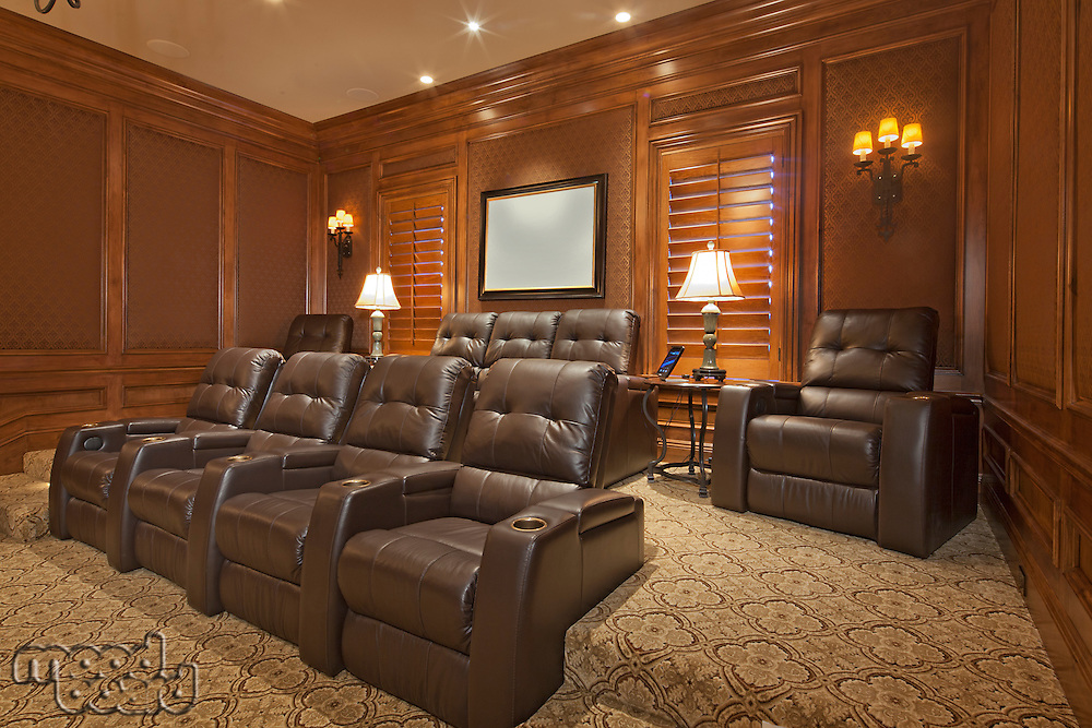 Looking to back of home cinema