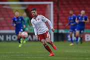 Sheffield United defender Robert Harris  during the The FA Cup match between Sheffield Utd and Oldham Athletic at Bramall Lane, Sheffield, England on 5 December 2015. Photo by Simon Davies.