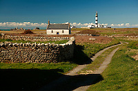Brittany scenery near Lighthouse Creac'h on Oussant Island, the most powerful french lighthouse..for article by Steven Erlanger on the state of lighthouses in France..Photo by Owen Franken for the NY Times..April 8, 2008