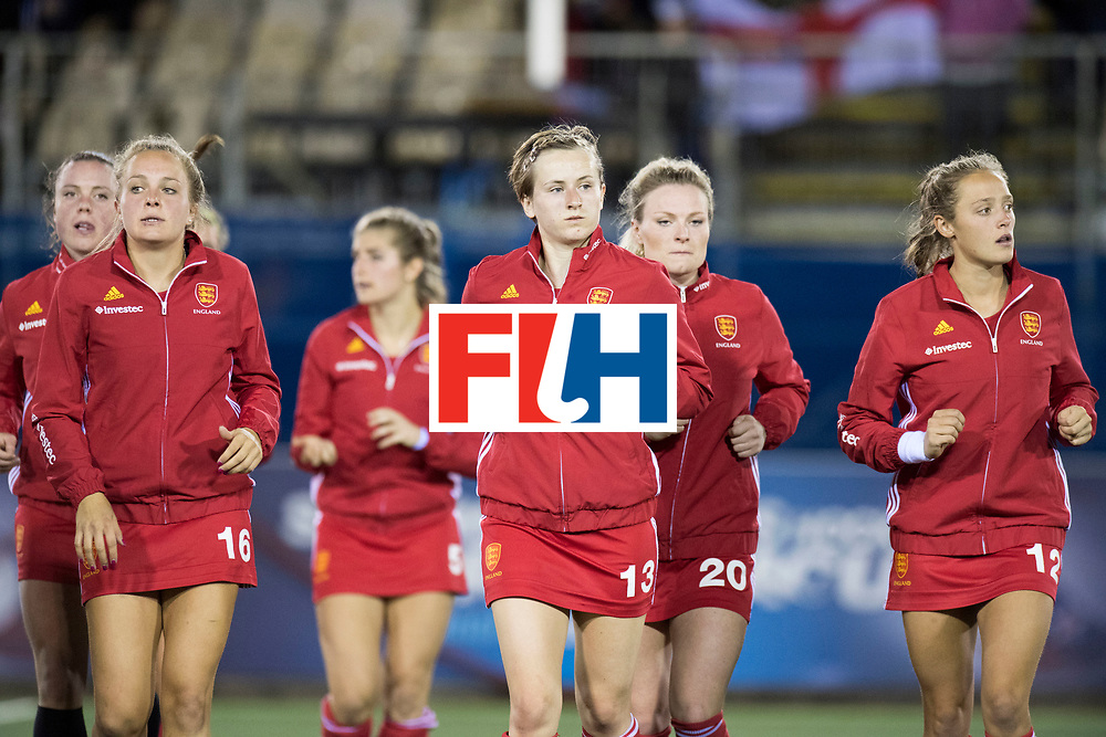 AUCKLAND - Sentinel Hockey World League final women<br /> Match id 10298<br /> 08 Argentina v England 1-0<br /> Foto: Coolong down.<br /> WORLDSPORTPICS COPYRIGHT FRANK UIJLENBROEK