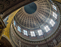 Architectural detail of the domes of the Kazan Cathedral in St. Petersburg in Russia.