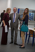 LADY HELEN TAYLOR; H.S.H. Prince Pierre d'Arenberg; ALIENOR D'ARENBERG, The VIP preview of Frieze. Regent's Park. London. 16 October 2013