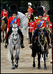 Prince William and Prince Chalres ® take part in the Queen's Trooping of the Colour, The Queen's Birthday Parade, on Horse Guards Parade, Saturday June 16, 2012. Photo by Andrew Parsons/i-Images..All Rights Reserved ©Andrew Parsons/i-Images .See Special Instructions