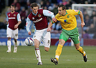 Burnley - Saturday November 1st, 2008: Chris McCann of Burnley and John Kennedy of Norwich City during the Coca Cola Championship match at Burnley. (Pic by Michael Sedgwick/Focus Images)