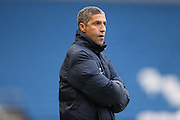 Brighton Manager, Chris Hughton during the The FA Cup match between Brighton and Hove Albion and Milton Keynes Dons at the American Express Community Stadium, Brighton and Hove, England on 7 January 2017.