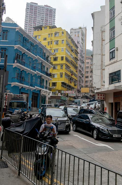 Wan Chai Road, Hong Kong Island, China.