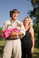 Portrait shoot with Jack Hanna, Director Emeritus of the Columbus Zoo, at a public appearance in Cypress, Texas on Saturday, May 2, 2015.  Hana is shown holding a Caracal, an Echidna, and a Red Kangaroo Joey.   © 2015 Robert Seale/All Rights Reserved.