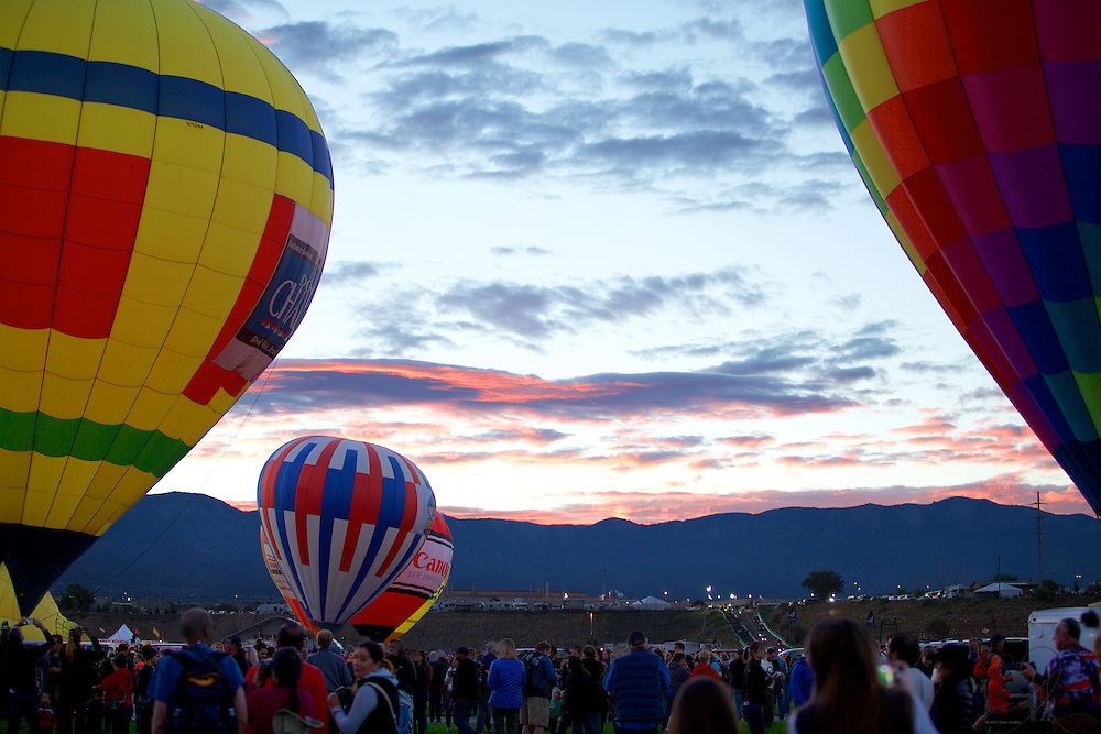 Mass ascension at Balloon Fiesta is perhaps the most magical as the sun is just climbing over the Sandia range.