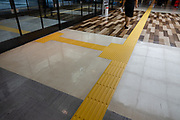 Yellow guide bumps on floors and streets help the sight-impaired and blind throughout Japan.