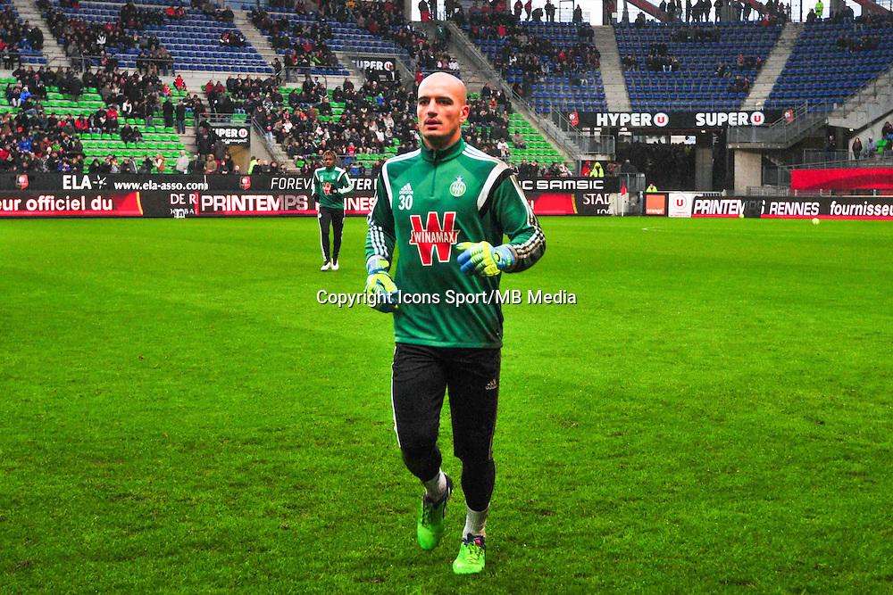 Jessy Moulin  - 18.01.2015 - Rennes / Saint Etienne - 21eme journee de Ligue 1 - <br />Photo : Philippe Le Brech / Icon Sport