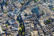 Nederland, Utrecht, Gemeente Utrecht, 30-09-2015; de Utrechtse binnenstad,  Oudegracht, Stadhuisbrug, Buurkerk.<br /> <br /> Downtown Utrecht and city centre.<br /> luchtfoto (toeslag op standard tarieven);<br /> aerial photo (additional fee required);<br /> copyright foto/photo Siebe Swart