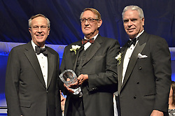 Donald Dell '60, Receives the George H.W. Bush Lifetime of Leadership Award '11, Yale University Athletics. Ball and Awards Presentation, Lanman Center, Payne Whitney Gymnasium.
