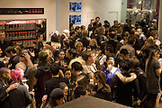 Uniqlo - Japanese store launch party, 311 Oxford Street, London, W1. 6 November 2007. -DO NOT ARCHIVE-© Copyright Photograph by Dafydd Jones. 248 Clapham Rd. London SW9 0PZ. Tel 0207 820 0771. www.dafjones.com.