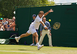 LONDON, ENGLAND - Wednesday, June 24, 2009: Tommy Robredo (ESP) during his Gentlemen's Singles 2nd Round match on day three of the Wimbledon Lawn Tennis Championships at the All England Lawn Tennis and Croquet Club. (Pic by David Rawcliffe/Propaganda)