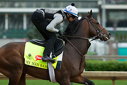 Derby 142 hopeful My Man Sam with Daniel Bernardini up were on the track for training, Wednesday, May 04, 2016 at Churchill Downs in Louisville.