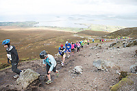 08/11/2014 repro free Participants on Croagh Patrick taking  part in the Sea 2 Summit adventure race in Westport Co. Mayo. Photo:Andrew Downes