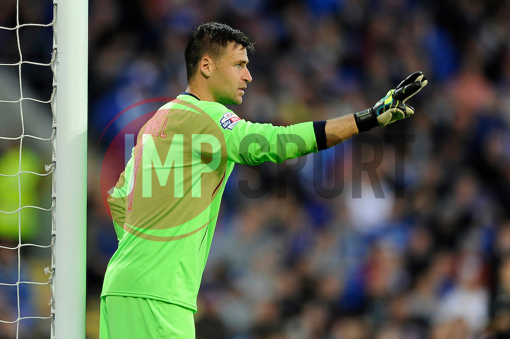 Cardiff City's David Marshall - Photo mandatory by-line: Dougie Allward/JMP - Mobile: 07966 386802 19/08/2014 - SPORT - FOOTBALL - Cardiff - Cardiff City Stadium - Cardiff City v Wigan Athletic - Sky Bet Championship
