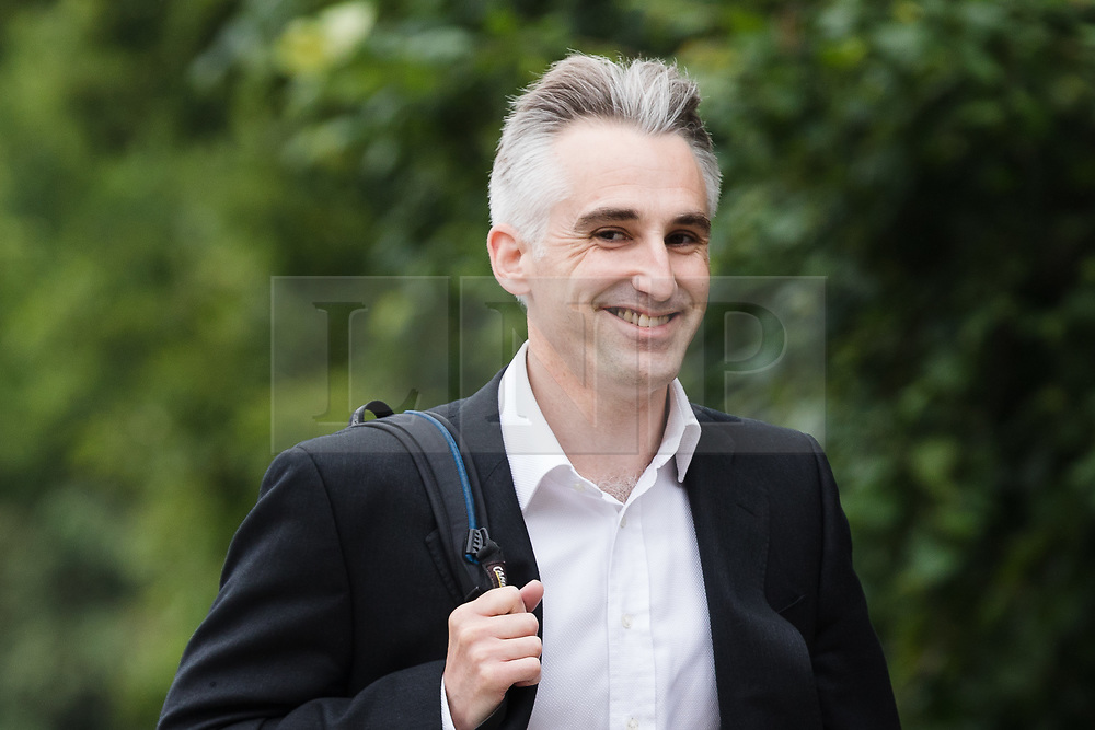 © Licensed to London News Pictures. 04/06/2018. London, UK.  CHRISTOF KING arrives at Isleworth Crown Court. A Newton hearing will take place to determine whether Christof King sent abusive tweets to TV presenter Christine Lampard. Mr King has admitted one charge of stalking but denies sending a string of messages to Mrs Lampard.  Photo credit: Vickie Flores/LNP