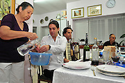 Family around the table for the traditional passover dinner,