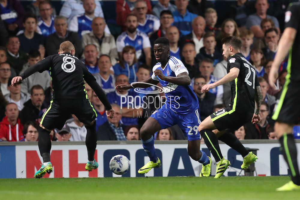 Ipswich Town defender Josh Emmanuel (29) during the EFL Sky Bet Championship match between Ipswich Town and Brighton and Hove Albion at Portman Road, Ipswich, England on 27 September 2016.