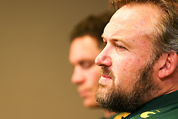 Durban. 140818. Matt Proudfoot (Forward Coach) of South Africa during the South African national rugby team media conference at Garden Court Umhlanga on August 14, 2018 in Durban, South Africa. Picture Leon Lestrade. Afrcan News Agency/ANA.