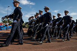 October 6, 2018 - Brno, France - Armed Forces Minister Florence Parly travels to the Army Health School in Bron, near Lyon, France on October 6, 2018. (Credit Image: © Nicolas Liponne/NurPhoto/ZUMA Press)