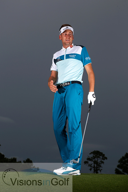 Ian Poulter<br /> Portrait<br /> 2014<br /> <br /> Golf Pictures Credit by: Mark Newcombe / visionsingolf.com