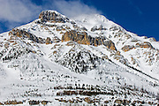 Mt. Whymper in winter. Kootenay National Park<br /> Kootenay National Park<br /> British Columbia<br /> Canada