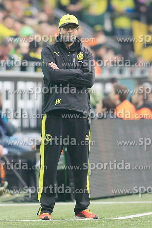 05.04.2014, Signal Iduna Park, Dortmund, GER, 1. FBL, Borussia Dortmund vs VfL Wolfsburg, 29. Runde, im Bild Trainer Juergen Klopp (Borussia Dortmund) // during the German Bundesliga 29th round match between Borussia Dortmund and VfL Wolfsburg at the Signal Iduna Park in Dortmund, Germany on 2014/04/05. EXPA Pictures &copy; 2014, PhotoCredit: EXPA/ Eibner-Pressefoto/ Schueler<br /> <br /> *****ATTENTION - OUT of GER*****