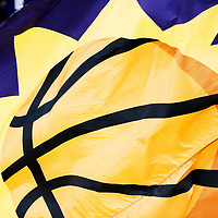 07 December 2017: Close view of the Phoenix Suns logo on a flag during the Washington Wizards 109-99 victory over the Phoenix Suns, at the Talking Stick Resort Arena, Phoenix, Arizona, USA.
