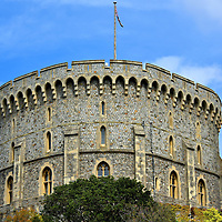 The Round Tower at Windsor Castle in Windsor, England<br />