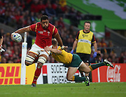 Wales Taulupe Faletau evading a tackle during the Rugby World CupPool A match between Australia and Wales at Twickenham, Richmond, United Kingdom on 10 October 2015. Photo by Matthew Redman.