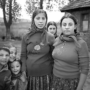 Roma teenagers and children in a gypsy community in Copsa Mica, Transylvania, Romania. 23rd July 2011. Photo Tim Clayton