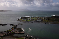'Easdale island from Dun Mor, 2018' from Colin McPherson's project 'Treasured Island' part of the Document Scotland exhibition entitled 'A Contested Land' which will launch at the Martin Parr Foundation, Bristol, on 16th January, 2019. McPherson's work was made in 2018-2019 on Easdale, the smallest permanently inhabited Inner Hebridean island and looks at the historical legacy of the island, once world famous for its slate mining industry.<br /> <br /> Photograph © Colin McPherson, 2018 all rights reserved.