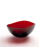 Red bowl on white