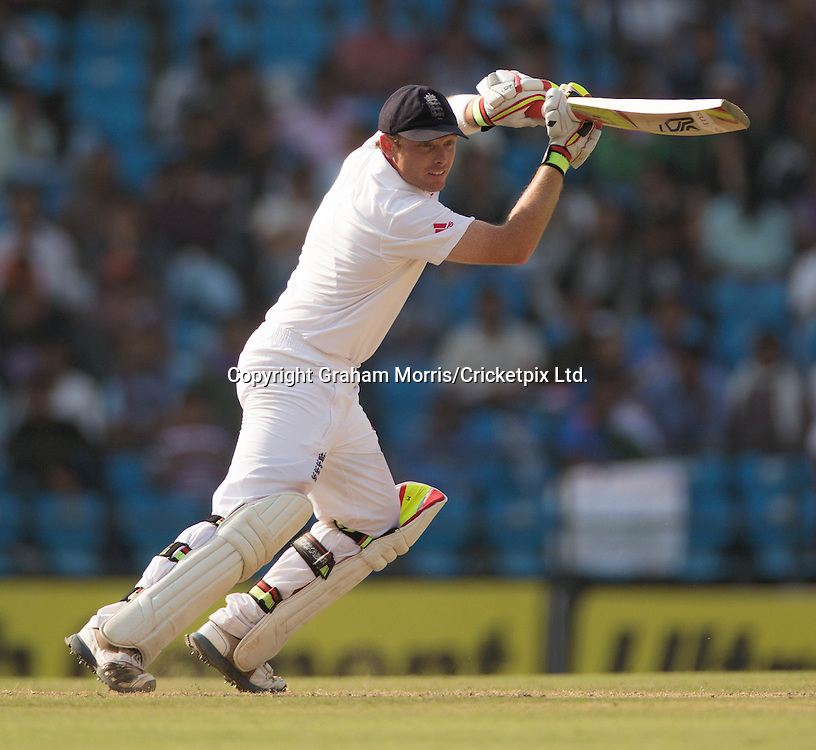 Ian Bell bats during his century in the fourth and final Test Match between India and England at the VCA Stadium, Jamtha, Nagpur. Photograph: Graham Morris/cricketpix.com (Tel: +44 (0)20 8969 4192; Email: sales@cricketpix.com)  17/12/12