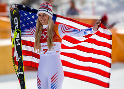 21-02-2018 KOR: Olympic Games day 12, PyeongChang<br /> Ladies Downhill at Jeongseon Alpine Centre / Silver medal for Lindsey Vonn, of the United States.